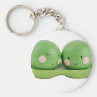 Two Peas in a Pod Basic Round Button Key Ring