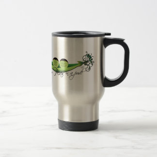 Two Peas In A Pod   boy twins Stainless Steel Travel Mug