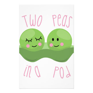 Two Peas In A Pod Customized Stationery