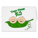 Two Peas in a Pod Greeting Card
