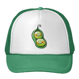 Two peas in a pod mesh hats