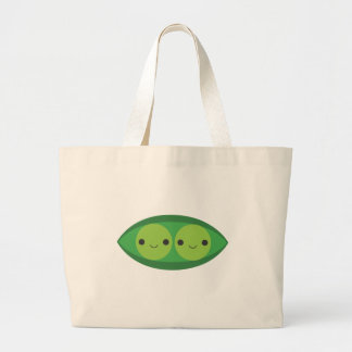 Two Peas in a Pod Large Tote Bag