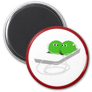Two Peas in a Pod 6 Cm Round Magnet