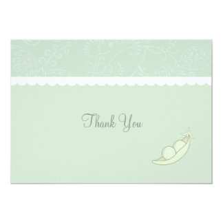 Two Peas In A Pod Thank You 13 Cm X 18 Cm Invitation Card