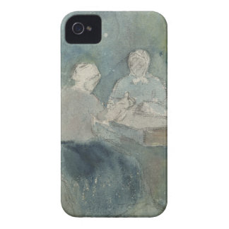 Two Peasants at the Table, c.1874 (w/c on paper) Case-Mate iPhone 4 Cases