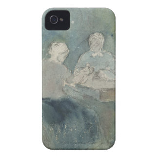 Two Peasants at the Table, c.1874 (w/c on paper) iPhone 4 Cover
