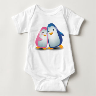 Two Penguins Baby Bodysuit