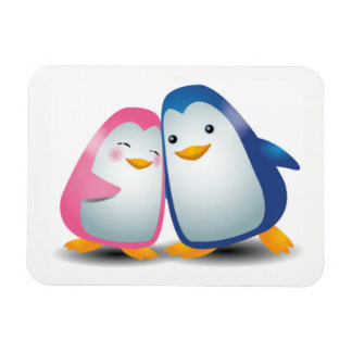 Two Penguins Magnet