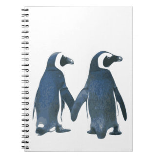 TWO PENGUINS Photo Notebook