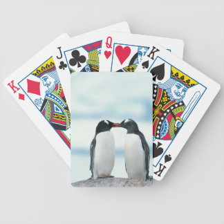 Two Penguins touching beaks Bicycle Playing Cards