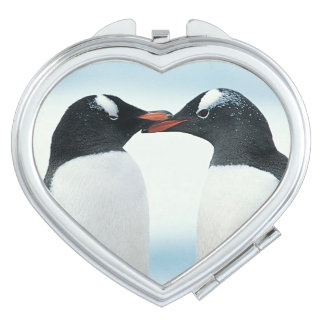 Two Penguins touching beaks Mirrors For Makeup