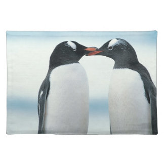 Two Penguins touching beaks Placemat