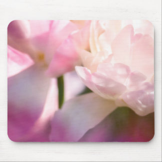 Two Peony Flowering Tulips with Petals Touching Mouse Mat