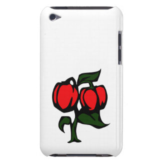 Two Peppers on a plant red green graphic iPod Touch Cases