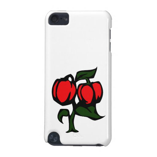 Two Peppers on a plant red green graphic iPod Touch 5G Cover