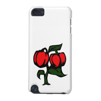 Two Peppers on a plant red green graphic iPod Touch (5th Generation) Case