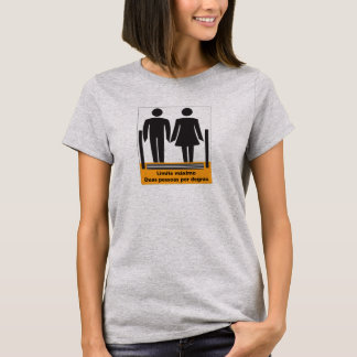 Two Persons by Step Sign, Brazil T-Shirt