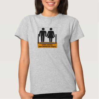 Two Persons by Step Sign, Brazil Tees
