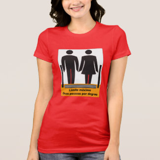 Two Persons by Step Sign, Brazil Tshirt