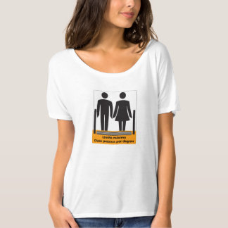 Two Persons by Step Sign, Brazil Tshirts