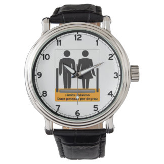 Two Persons by Step Sign, Brazil Wristwatches