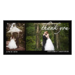 Two Photo Wedding Thank You Photocard Photo Card Template