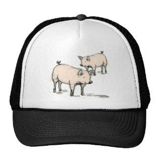 two piggies mesh hats