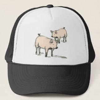 two piggies trucker hat