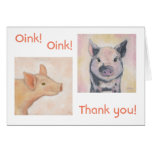 Two Piglets Thank You card