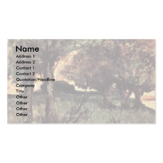 Two Pigs On Pasture By Fattori Giovanni Business Card Templates