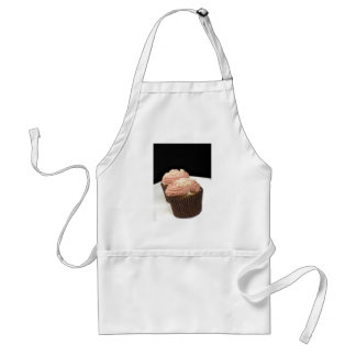 two pink cupcakes standard apron