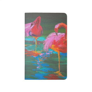 Two Pink Flamingos on Green Lake Journal