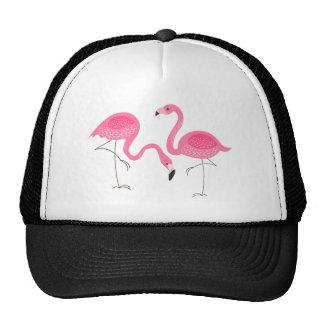 Two Pink Flamingos Simple Illustration Cap
