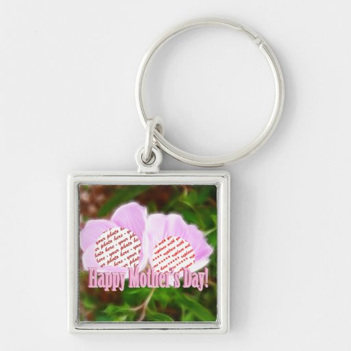 Two Pink Poppies for Mother's Day Photo Frame Key Chains