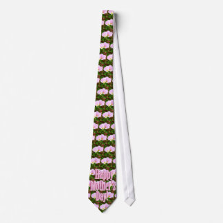 Two Pink Poppies for Mother's Day Tie