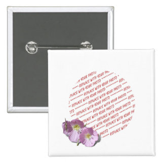 Two Pink Poppies Photo Frame 15 Cm Square Badge