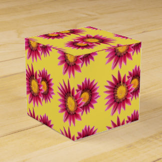 two pink purple flowers gift box favour boxes