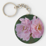 Two Pink Roses Keychain