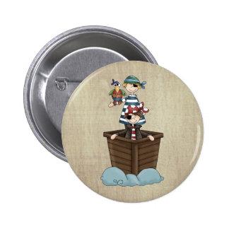 Two Pirates 6 Cm Round Badge