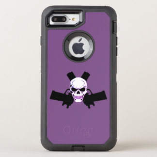 Two Pistols & Skull, Purple Otterbox Case