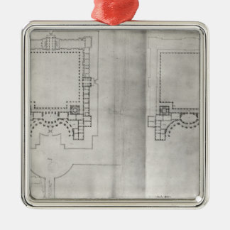 Two plans for the first project for the Louvre Christmas Ornament