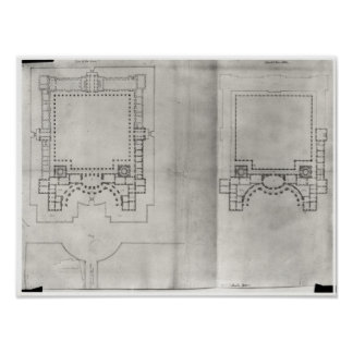 Two plans for the first project for the Louvre Posters