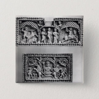 Two plaques from a chest 15 cm square badge