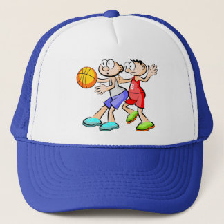 Two Players of Basketball Trucker Hat