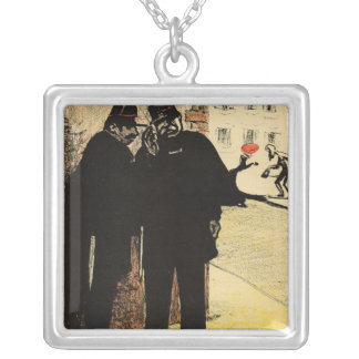 Two policemen hide from the Commissioner's wife Silver Plated Necklace