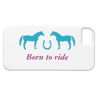 Two ponies and a horseshoe iPhone 5 cover