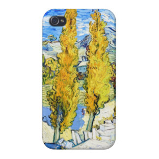 Two Poplars on a Hill Vincent van Gogh iPhone 4 Case