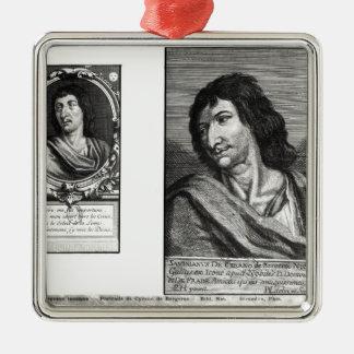 Two portraits of Savinien Cyrano de Bergerac Christmas Ornament