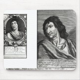 Two portraits of Savinien Cyrano de Bergerac Mouse Pad