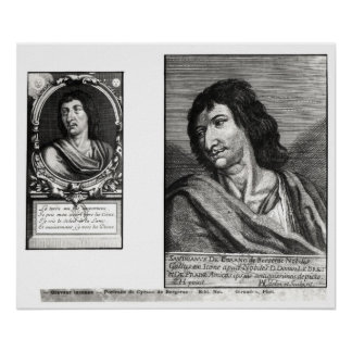 Two portraits of Savinien Cyrano de Bergerac Poster